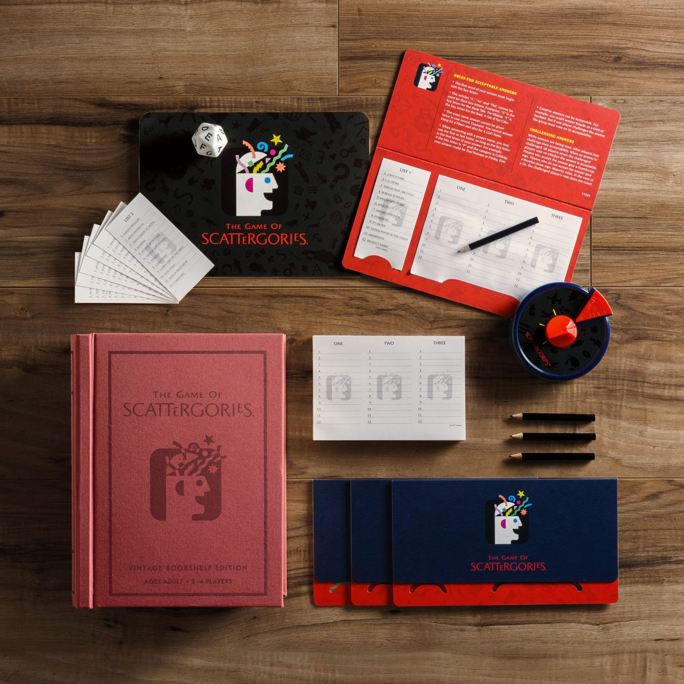 Ws Game Company Scattergories Vintage Bookshelf Edition